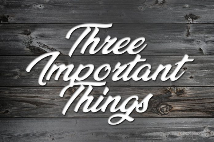 3 things in life